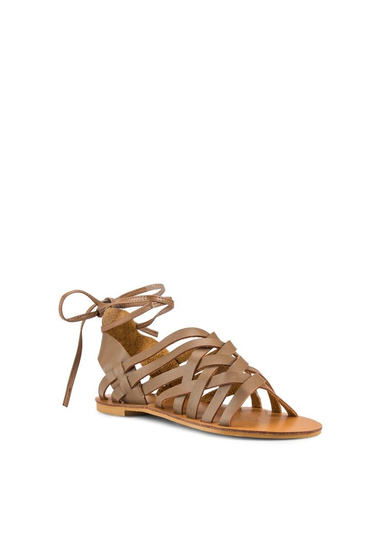 Colbie Weaved Laced Up Sandals_2