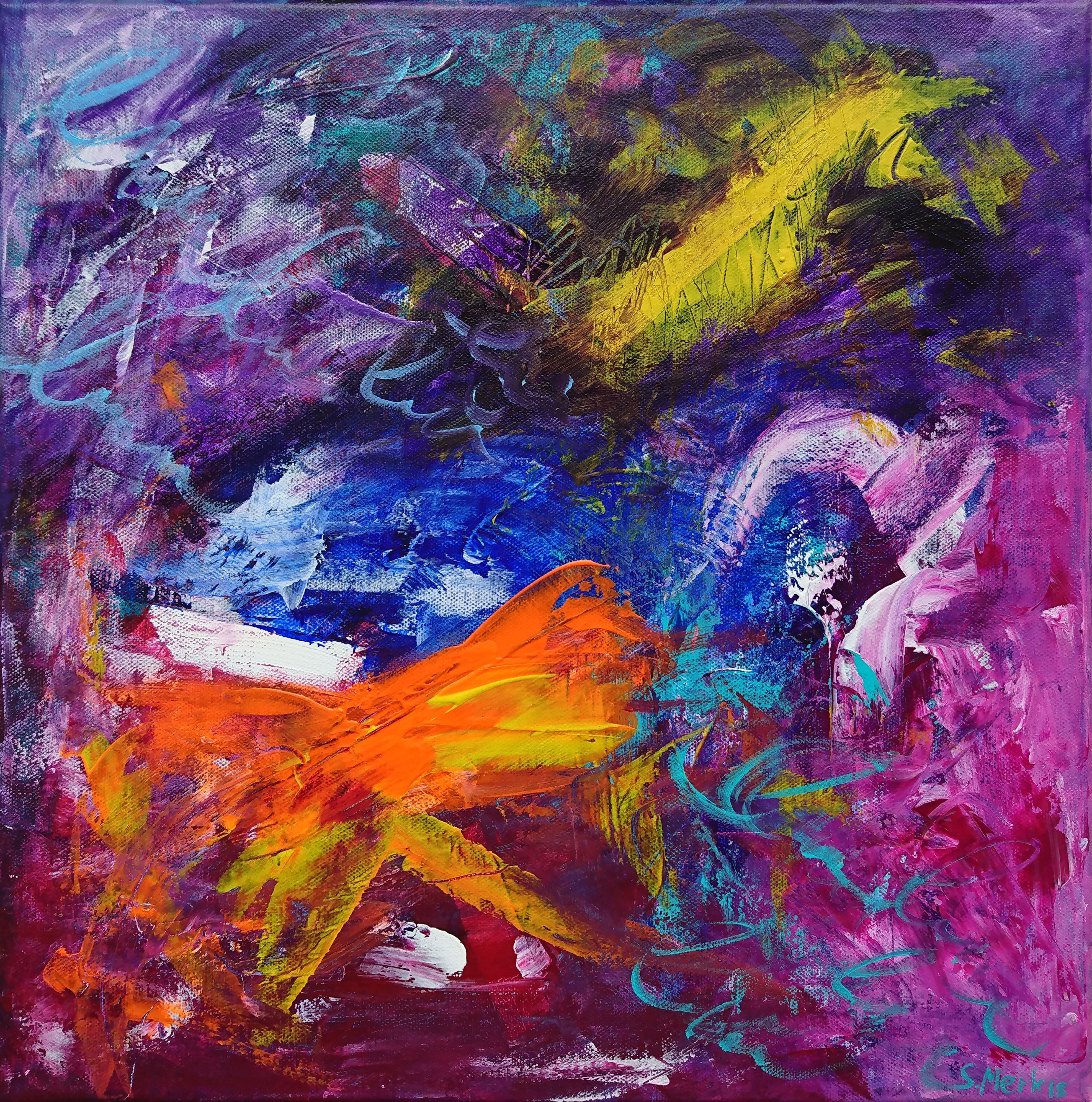 Original Colorful Abstract Painting Abstract Acrylic