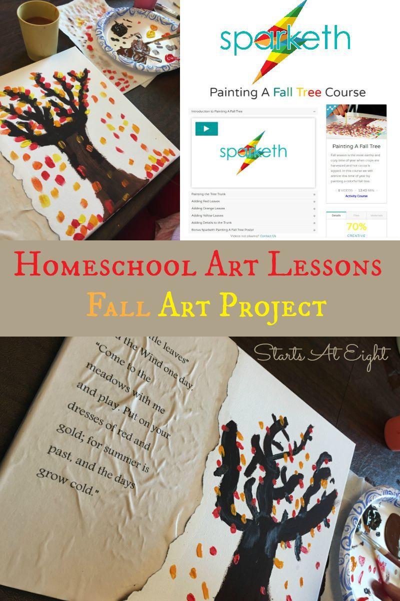 Homeschool Art Lessons Fall Art Project High School Art Projects Art Lessons Fall Art Projects