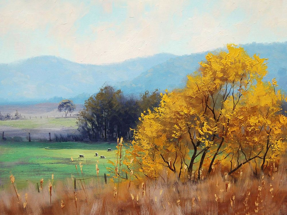 HAND PAINTED OIL PAINTING ABSTRACT WALL DECOR LANDSCAPE ON CANVAS ZO60 00362 #ZL #OilPainting