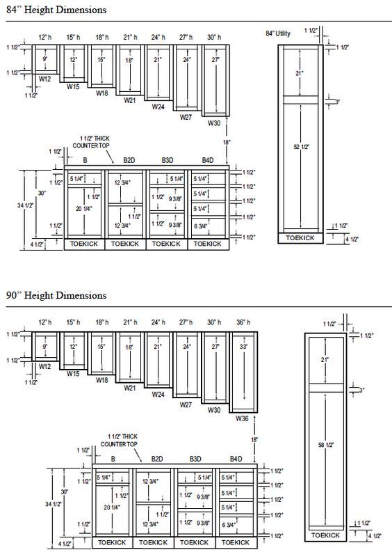 Building Kitchen Cabinets Pdf : building, kitchen, cabinets, Kitchen, Cabinet, Dimensions, Highlands, Designs, Custom, Cabinets,, Bookcases,, Cabinets, Measurements,, Dimensions,, Sizes
