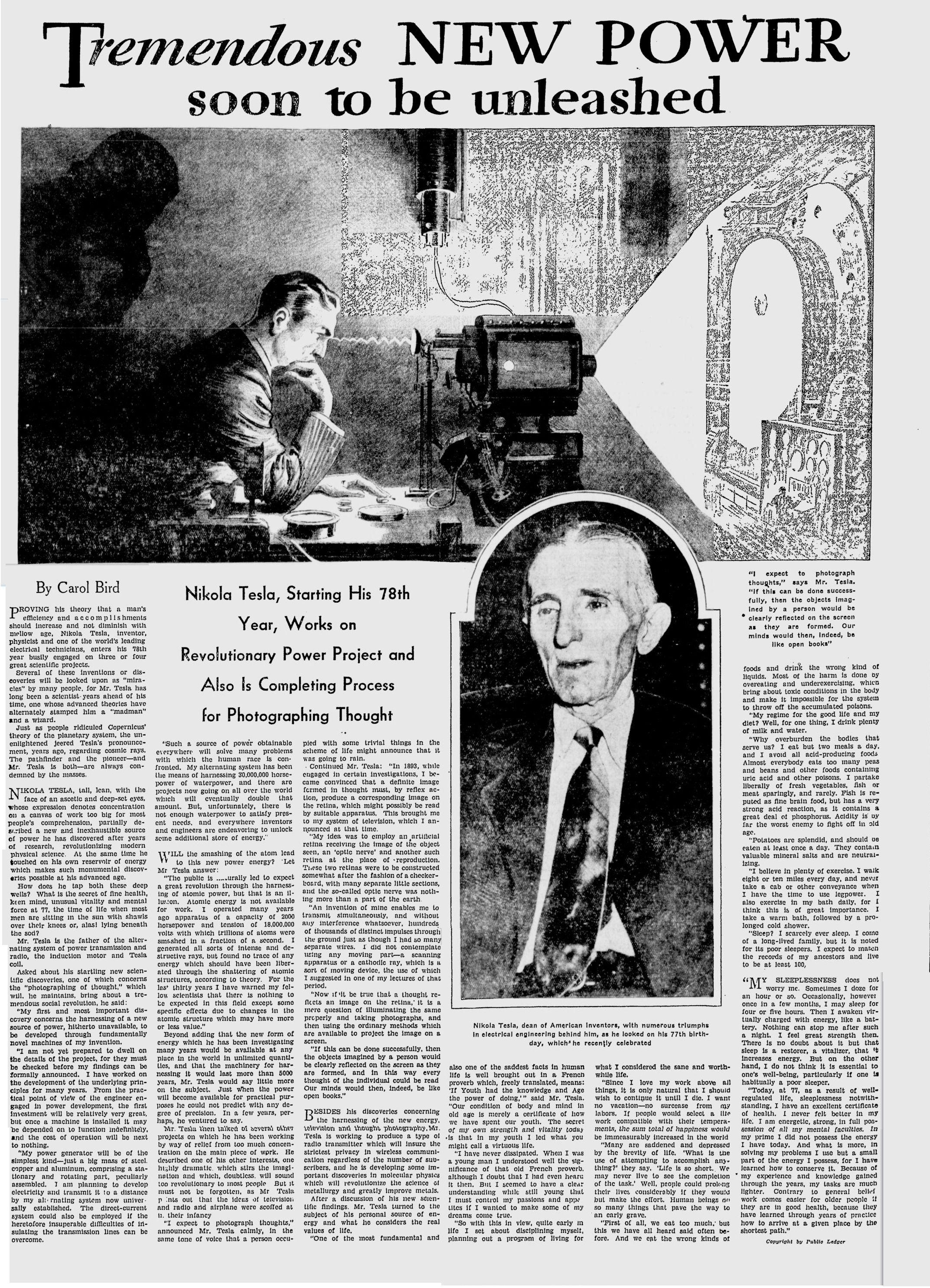 Tesla 19330909 Jpg Nikola Tesla Research Paper Tesla