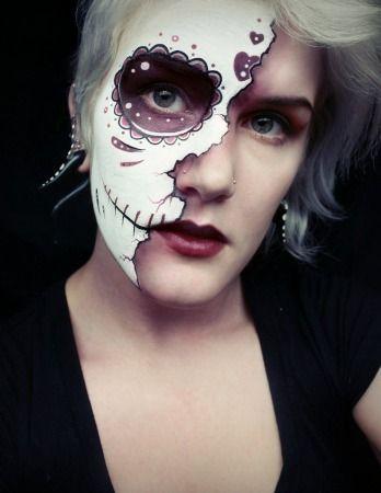 Sugar Skull Makeup Half Face