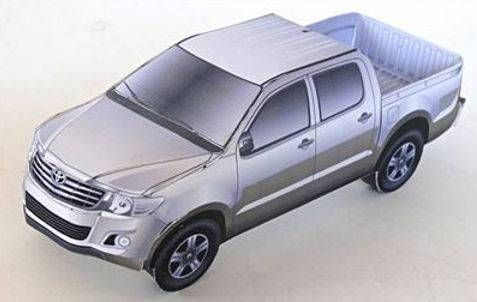 Toyota Hilux Pick Up Truck Free Vehicle Paper Model Download 3d