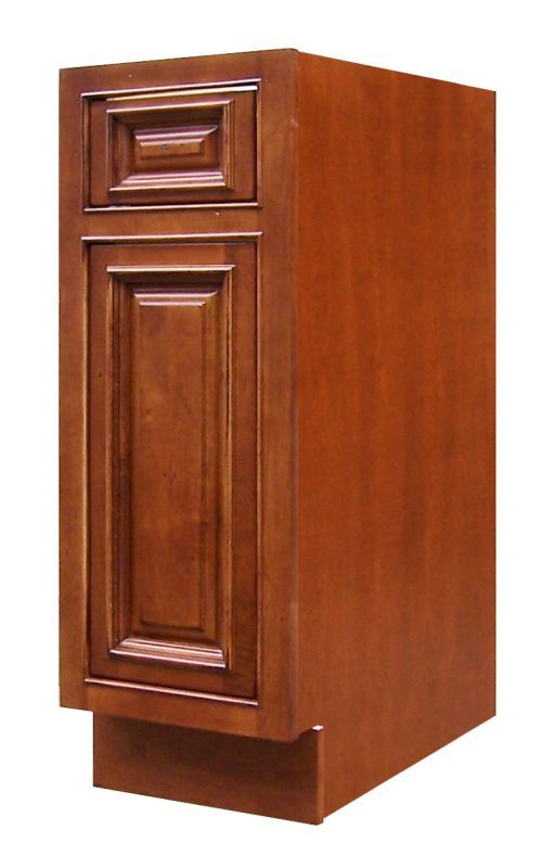 Sagehill Designs Ahb12 Amherst 12 Single Door Base Cabinet With Drawer Burnt Cinnamon Cabinet Kitchen Bas Single Doors Base Cabinets Cabinet Drawers