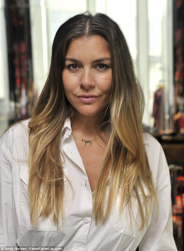 Flawless: She wore her long blonde tresses in a relaxed straight style, which fell over he...