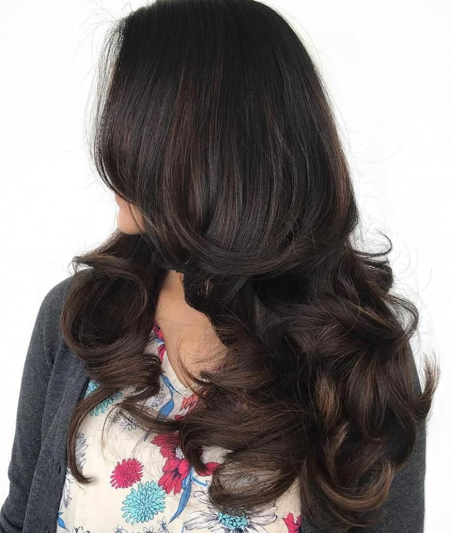 20 impressive haircuts and hairstyles for long dark brown