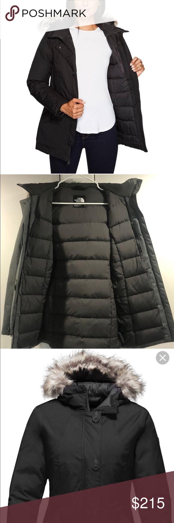 The North Face Parka Waterproof Coat In Gray North Face Parka Waterproof Coat Women Winter Coat Warmest [ 1740 x 580 Pixel ]