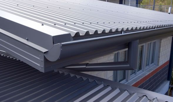 Modern Roof Gutter | Gutter replacement | Roof architecture, Roof ...