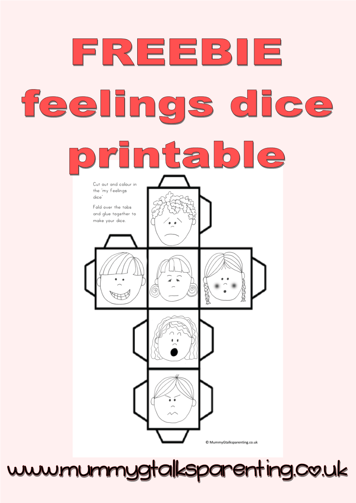 Freebie Feeling Dice Printable Freebie Preschool
