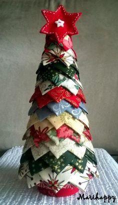 arbol navidad patchwork artesanum com - Arbol De Navidad De Tela