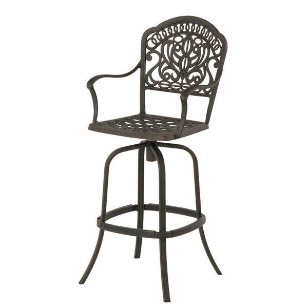 hanamint tuscany cast aluminum patio furniture bar stool tuscany