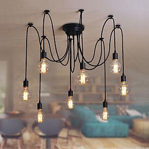 Retro Kronleuchter Für Wohnzimmer Schlafzimmer Küche Esszimmer  Studierzimmer/Büro Inklusive Glühbirne