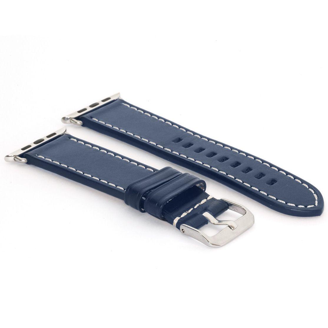 Leder   Mitternachtsblau Armband für die Apple Watch   BandWerk