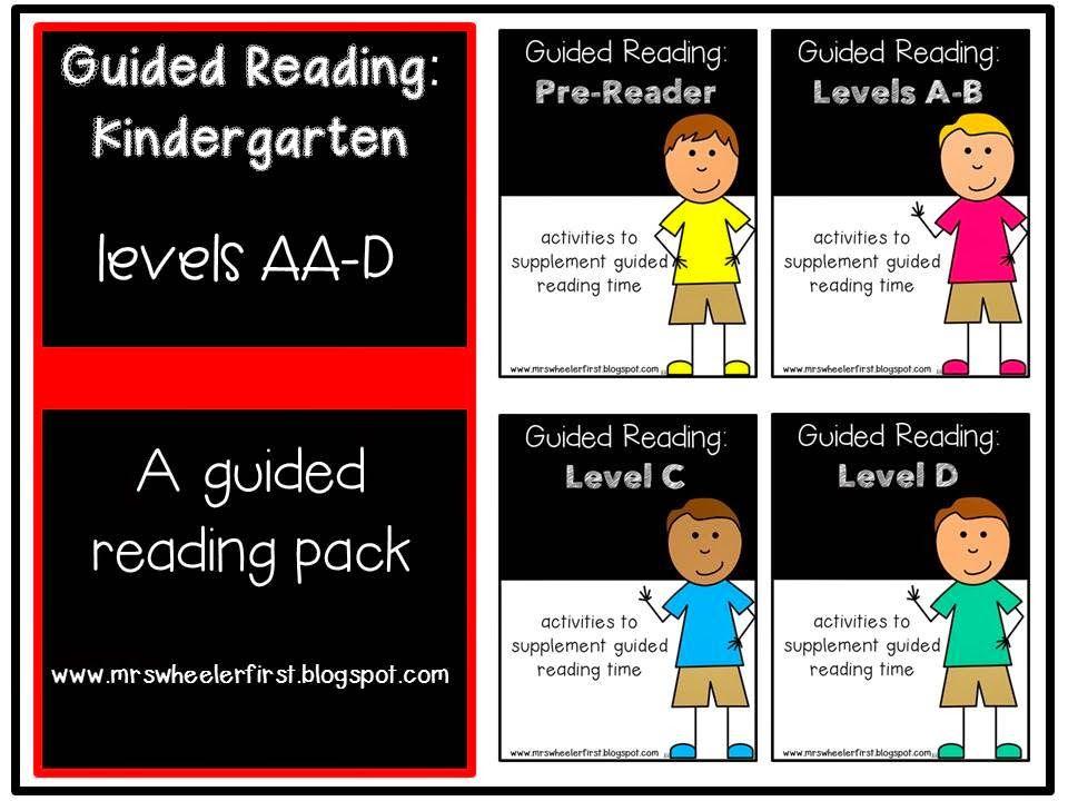 Mrs. Wheeler's First Grade Tidbits: Guided Reading Update