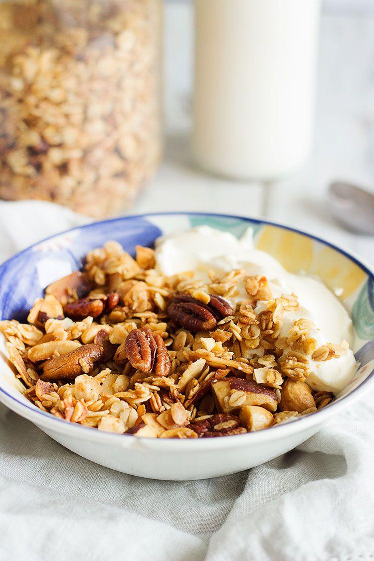 Maple Coconut Homemade Granola Recipe Homemade Cereal Vegan