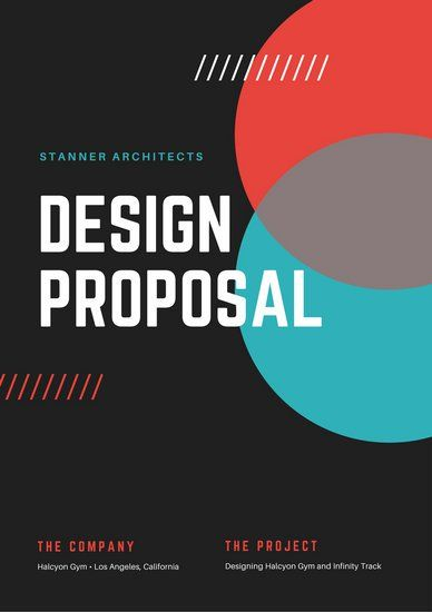 Blue Red Design Architecture General Proposal | Document Graphic ...