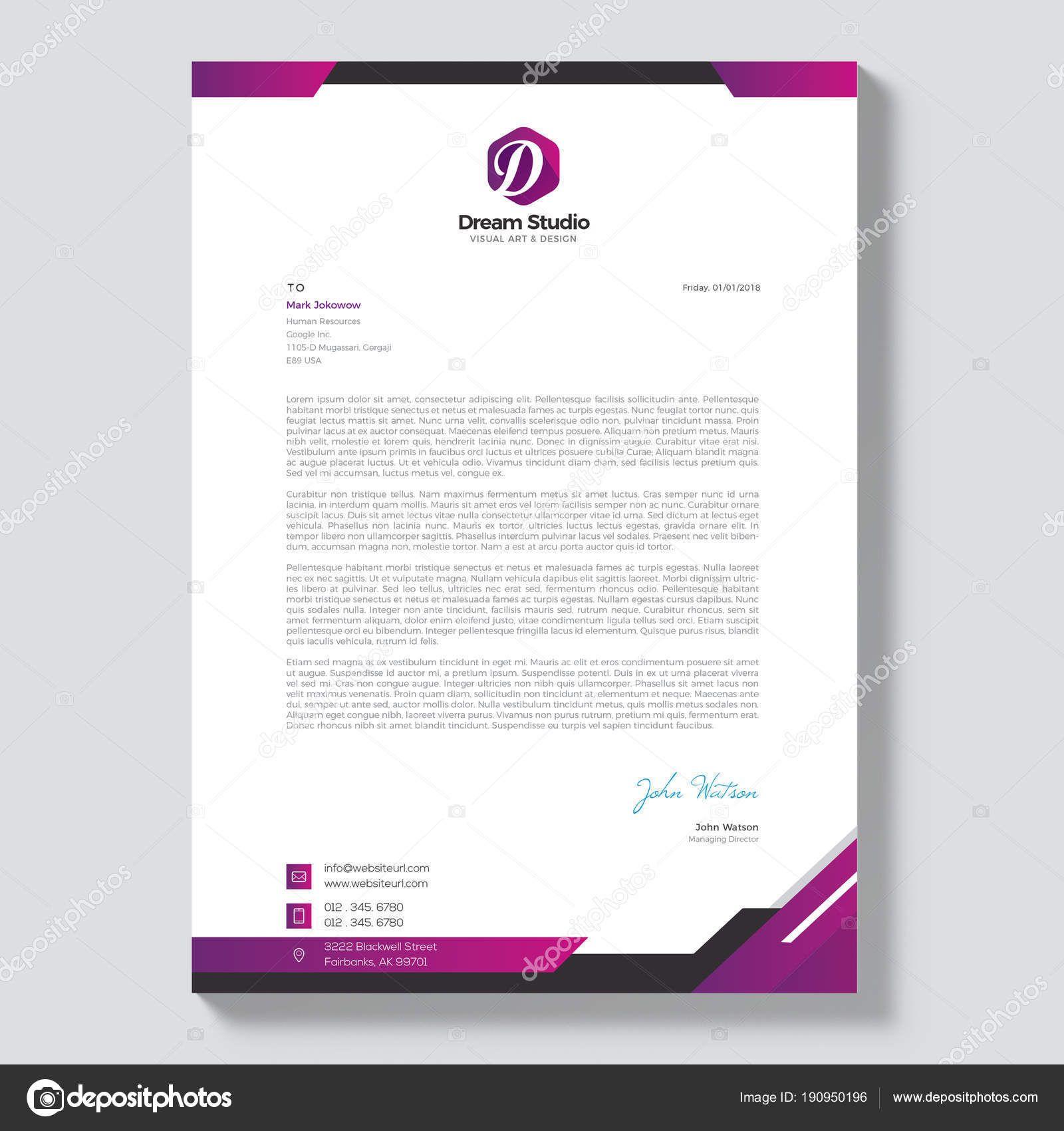Download Professional Letterhead Template Vector Stock Illustration Professional Letterhead Template Professional Letterhead Letterhead Template