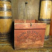 Omas Fabulous Frühe Alte Antike FARMERS FRIEND Egg Crate w. Alte rote Farbe #Al…