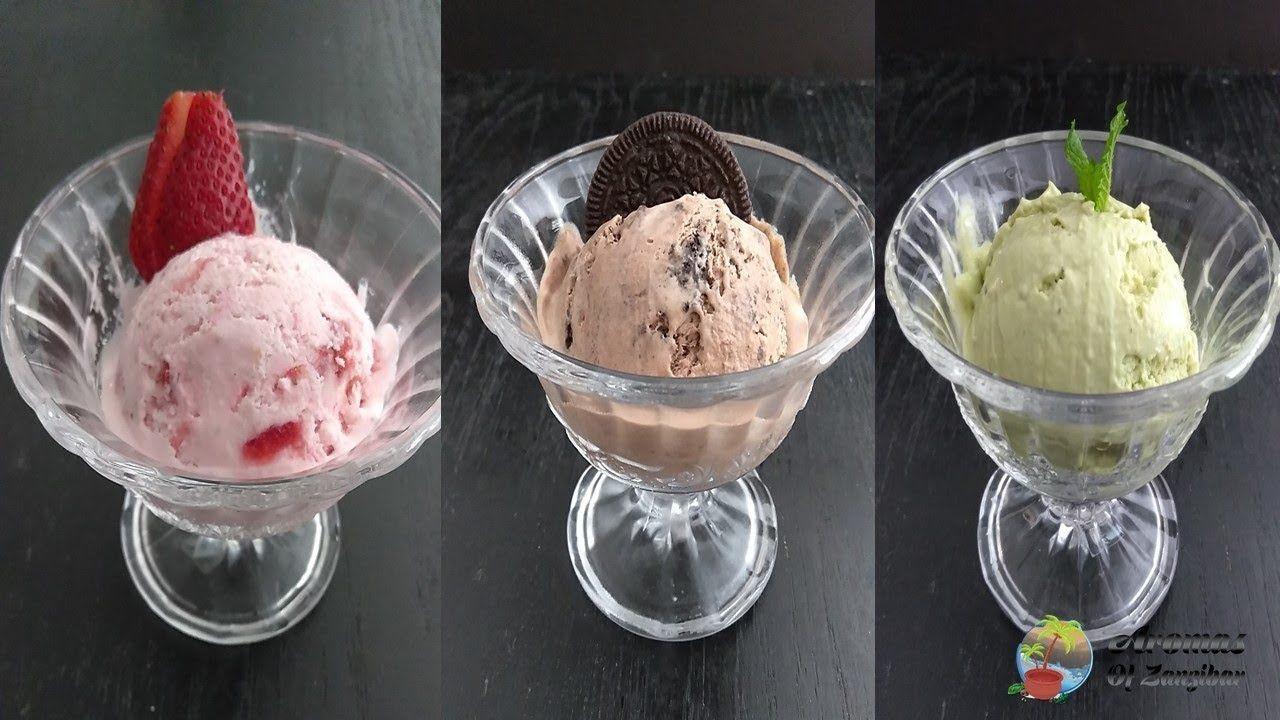 Jinsi Ya Kutengeneza Ice Cream Nyumbani Bila Kifaa Maalum Cha Icecream Youtube Ice Cream Cream Ice