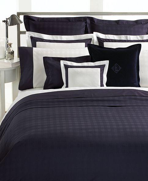 Ralph Lauren Hotel Collection Bedding: Lauren Ralph Lauren Bedding, Navy Glen Plaid Suite