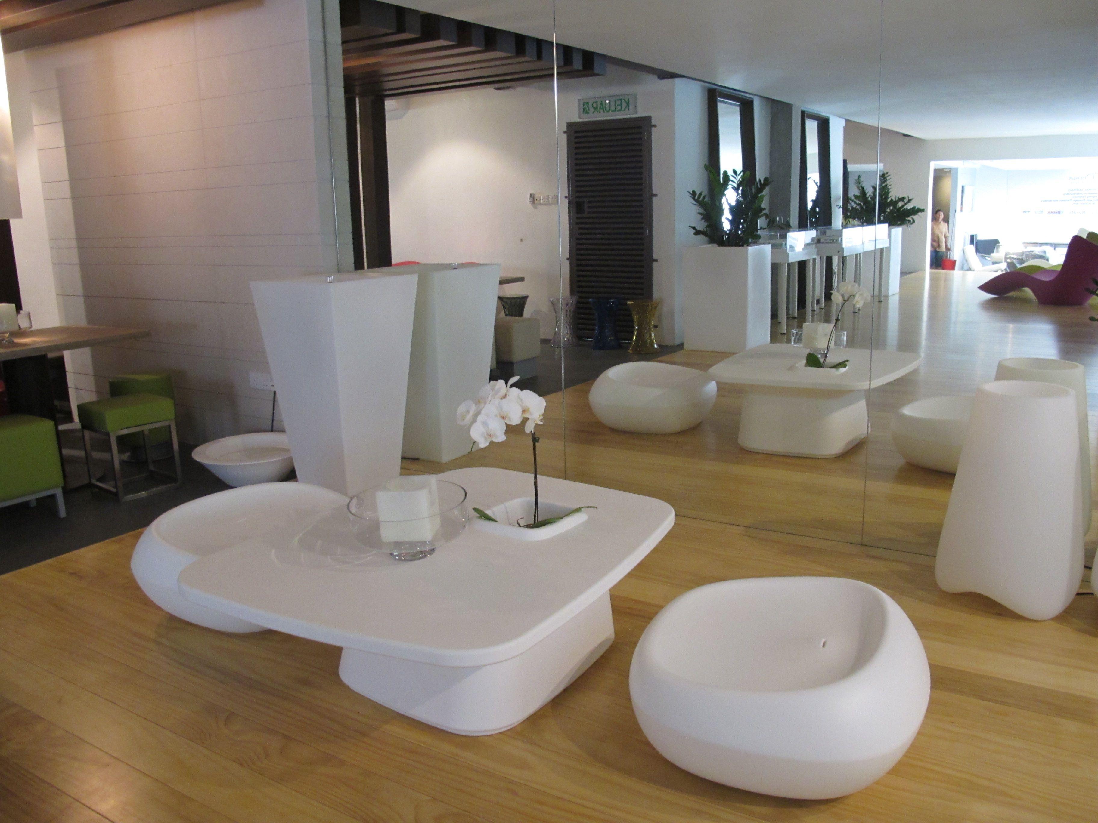 Translucent coated Accoya® wood used for the flooring of
