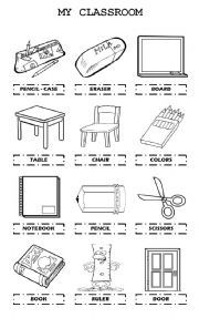 English worksheet: My Classroom | Worksheets | Worksheets, Classroom