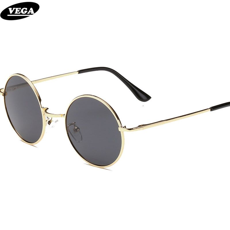 a598040db6 VEGA Polarized 80s 90s Retro Round Glasses Men Women Metal Round Sunglasses  Vintage Small Hippie Glasses Circle Lenses 8024  Affiliate
