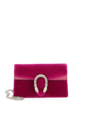 GUCCI Dionysus Velvet Mini Chain Shoulder Bag. #gucci #bags #shoulder bags #crystal #velvet #