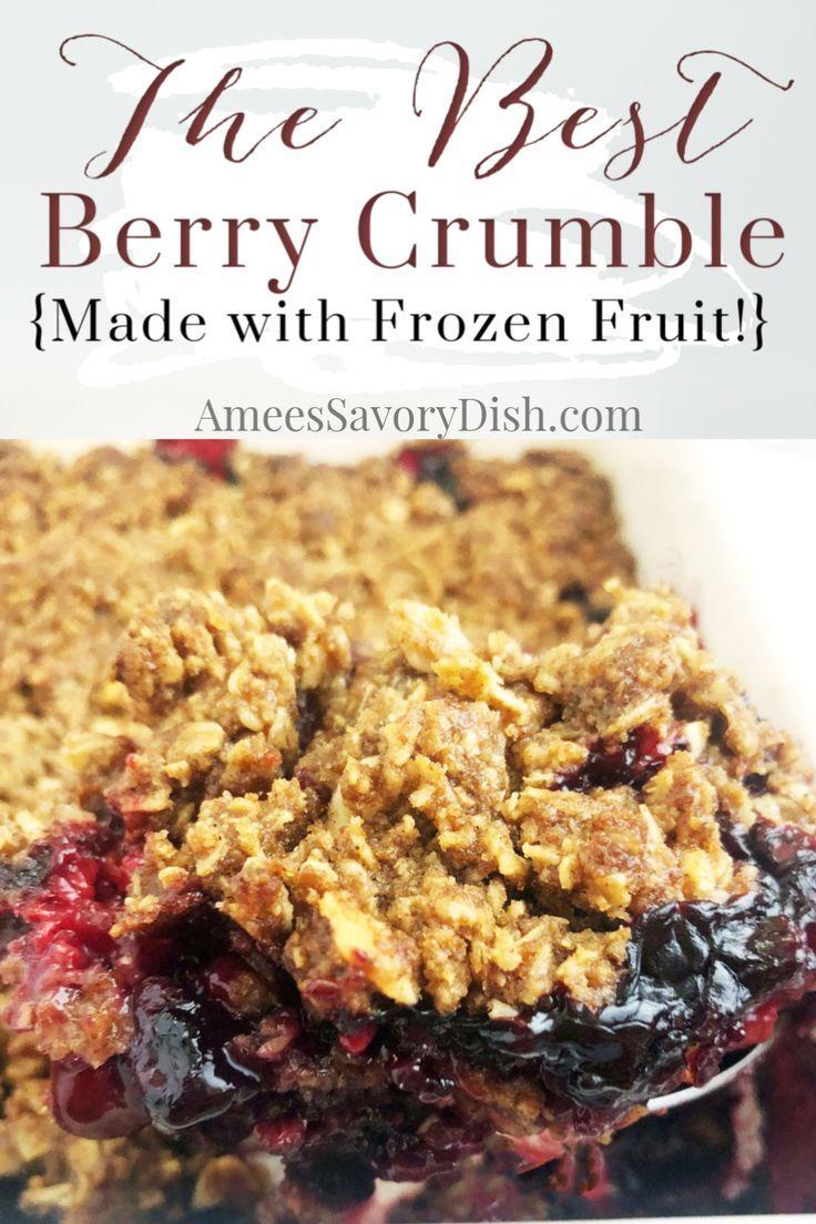 Easy Berry Crumble Recipe