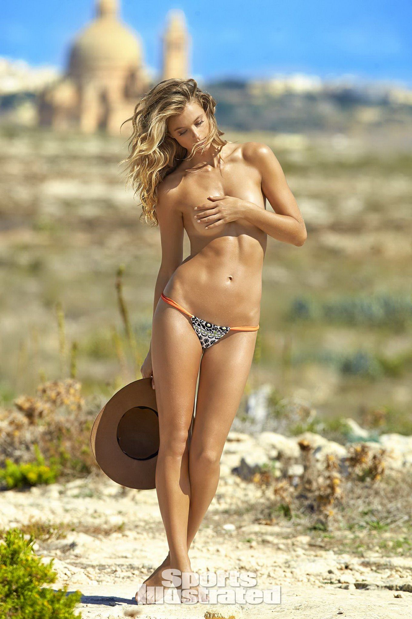 kate bock showing off her boobs and ass for 2016 sports illustrated