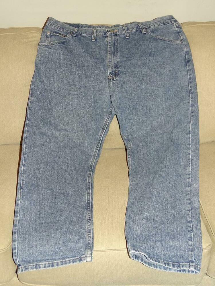 Details about wrangler denim blue jeans mens size 42 x 30