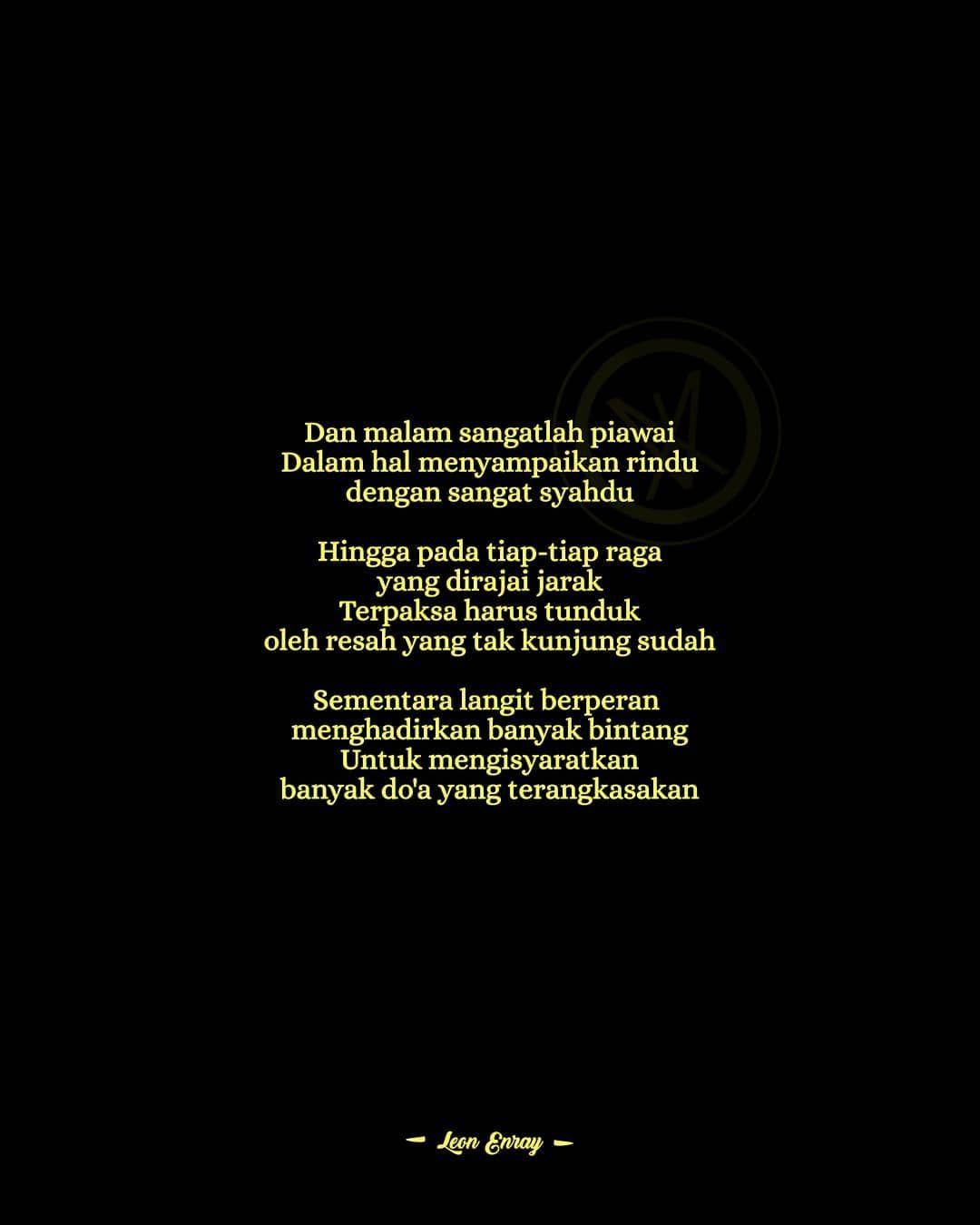 Berpuisi Dimalam Sunyi Eontologi Enray610 Literasi Sajak Tulisan