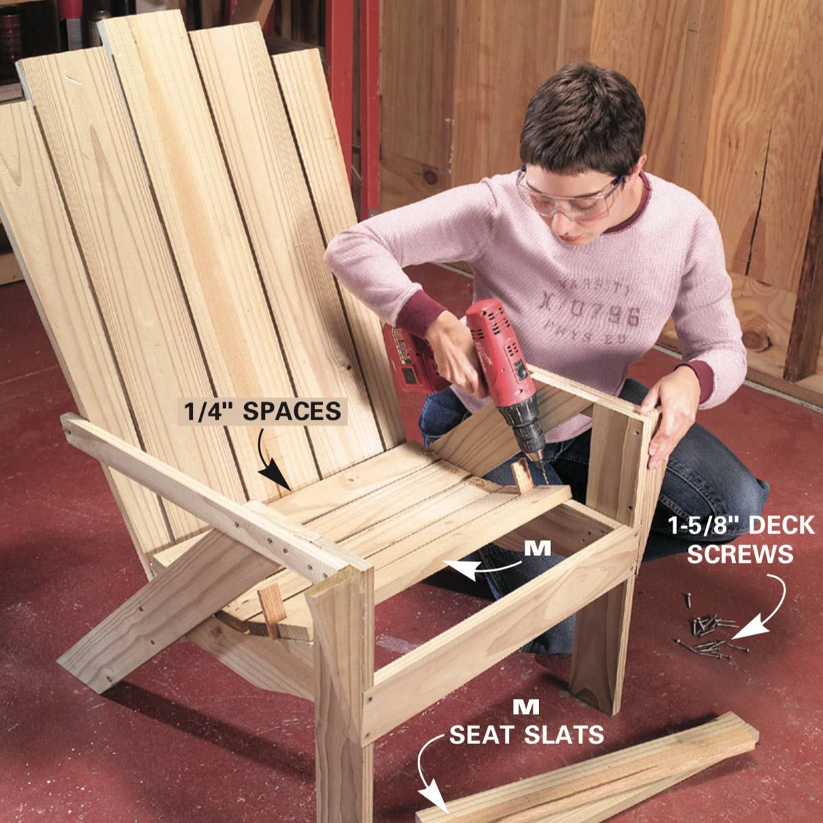 How to make an adirondack chair and love seat diy