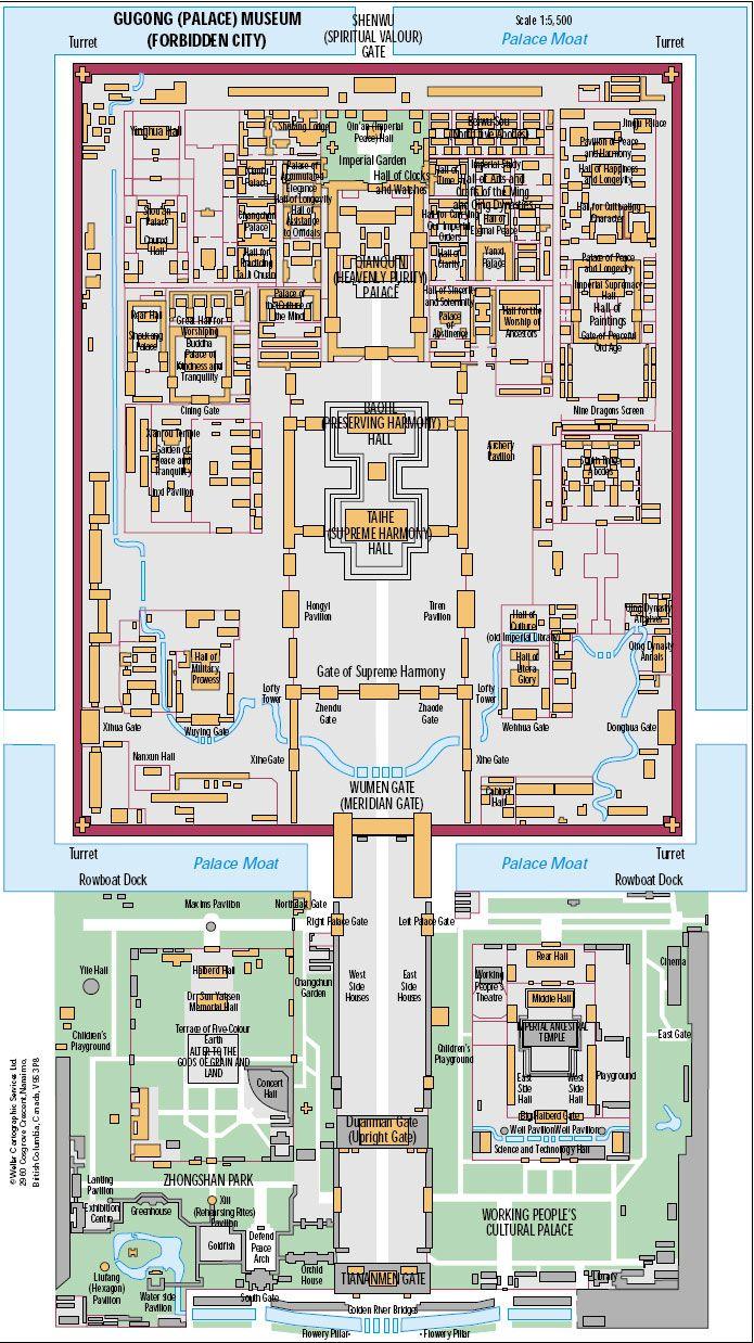 Beijing Forbidden City Map Travels Pinterest City maps