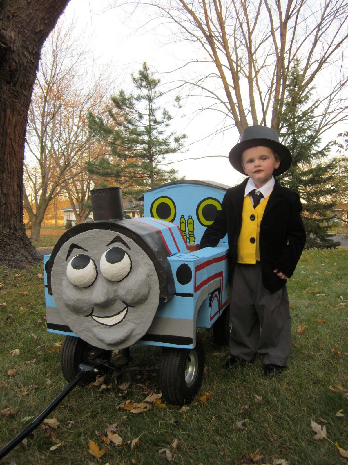 sir topham hatt costume & thomas wagonsoooo clever