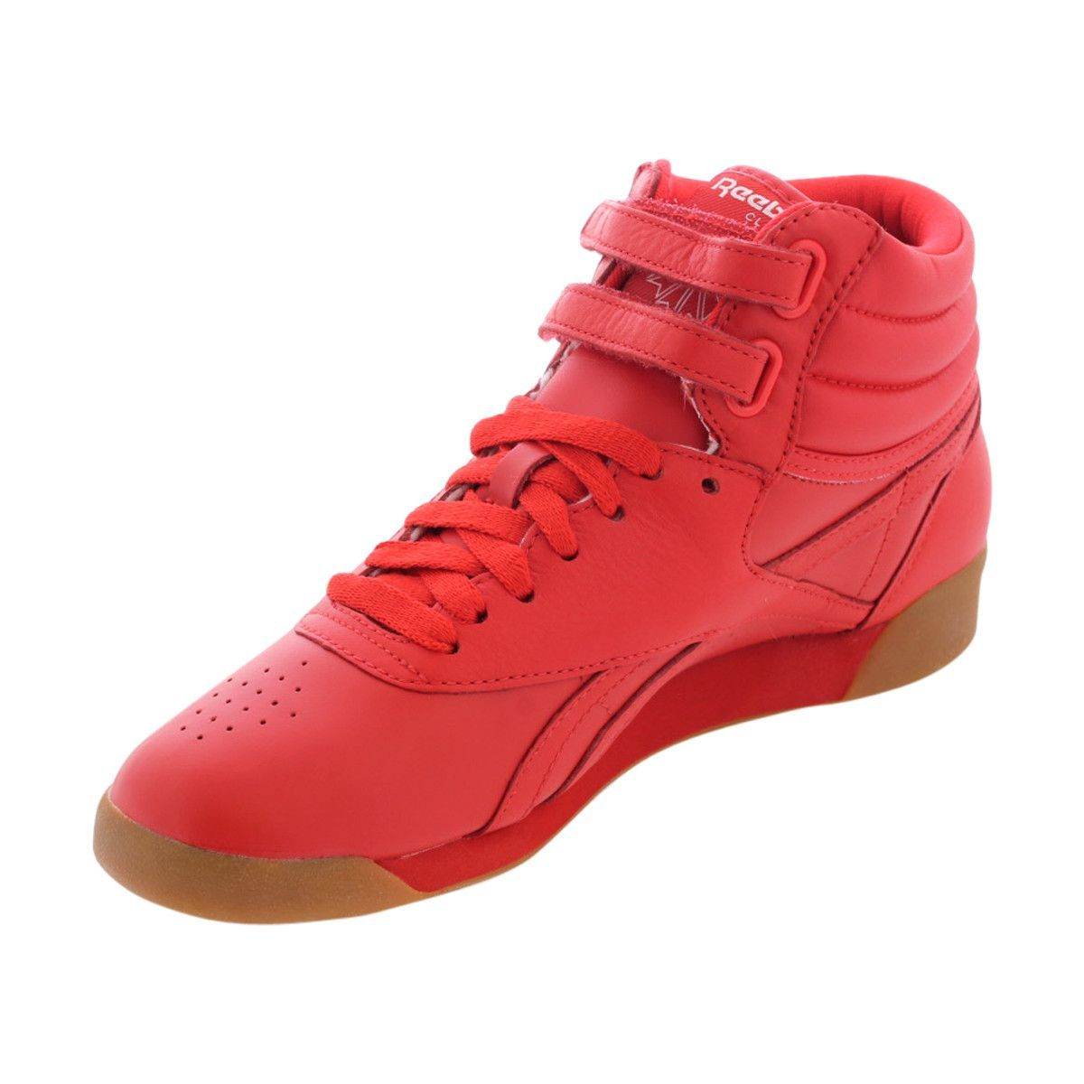af588265072e Reebok - Women s Freestyle Hi Fitness Sneakers - Red White