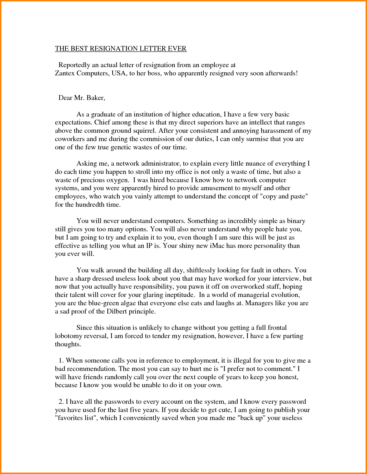 The Best Resignation Letter Ever Writing Sad Break Way Inform Your
