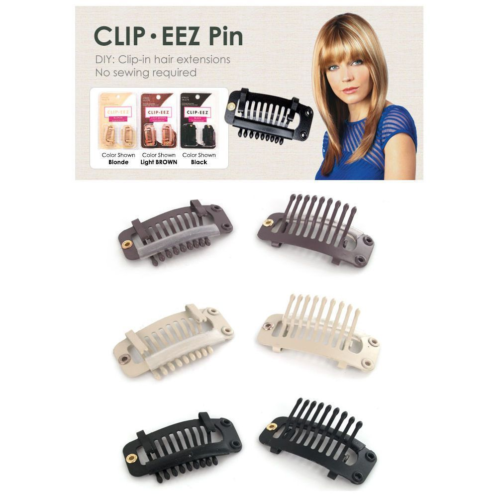 Clip eez hair extension weft clipno sewing required slide down