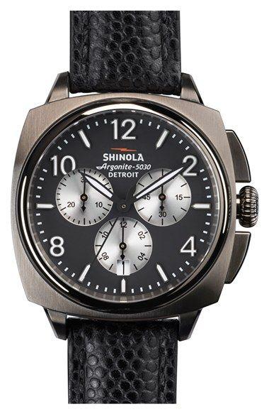 e93d56d6fff Shinola  The Brakeman  Chronograph Leather Strap Watch