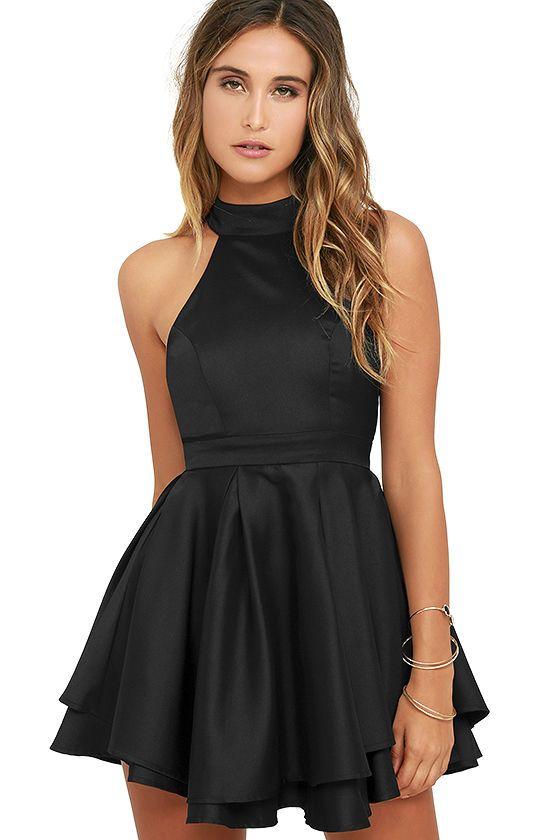 c6c775fe18 Dress Rehearsal Black Skater Dress