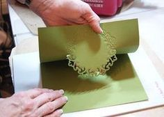 Tutorial on how to use any die cut to make a folded card