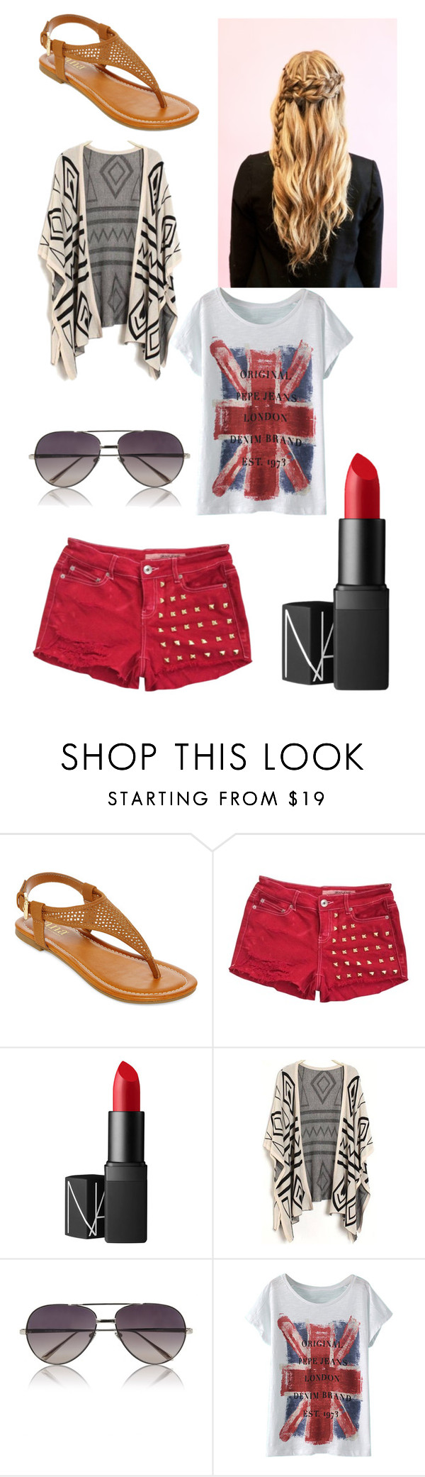 """""""nine"""" by exertive ❤ liked on Polyvore featuring A.N.A, Wrangler, NARS Cosmetics and Linda Farrow"""