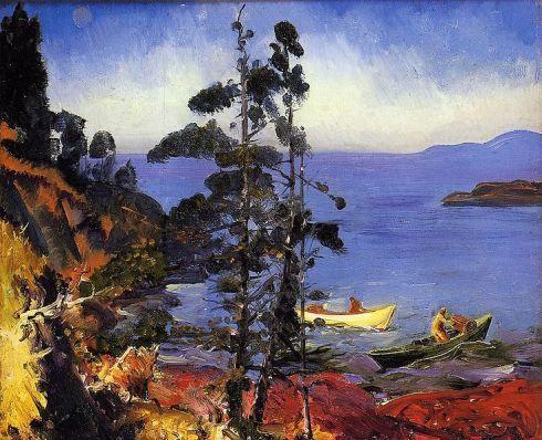George Bellows, Evening Blue (1913)
