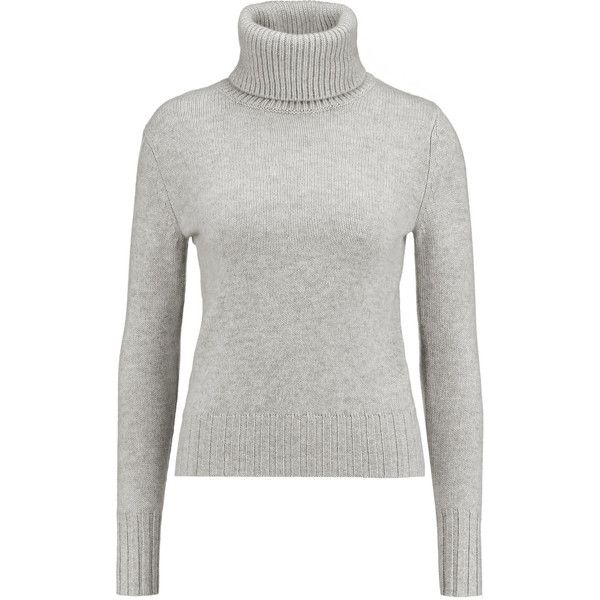 N.Peal Cashmere Cashmere turtleneck sweater (€200) ❤ liked on Polyvore featuring tops, sweaters, grey, grey sweater, turtleneck sweater, gray turtleneck, turtleneck tops and cashmere tops