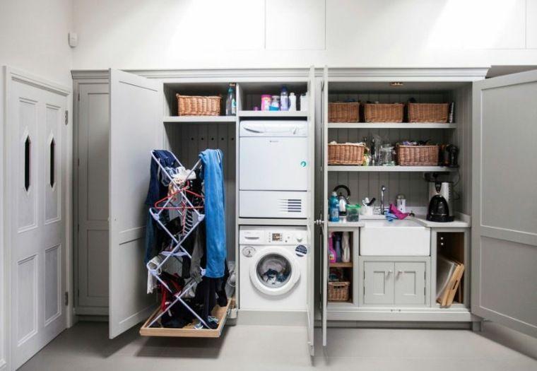 Waschmaschinenschrank für eine praktische waschküche