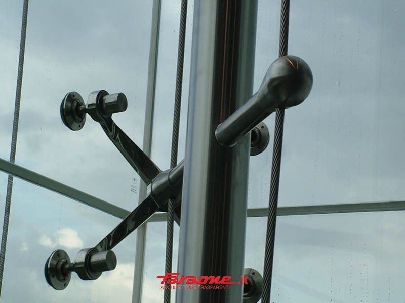 Glass curtain-wall accessories ROTULES by FARAONE | Vitrina ...