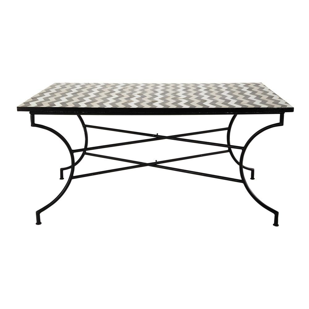 Maison Du Monde Tavoli Da Esterno.Garden Table Zellige Tile Dining Table W 160cm Zelie Maisons