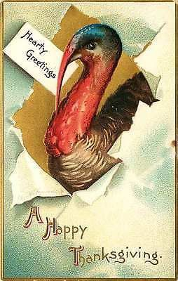 Thanksgiving 1908 hearty greetings from turkey antique vintage thanksgiving 1908 hearty greetings from turkey antique vintage embossed postcard m4hsunfo