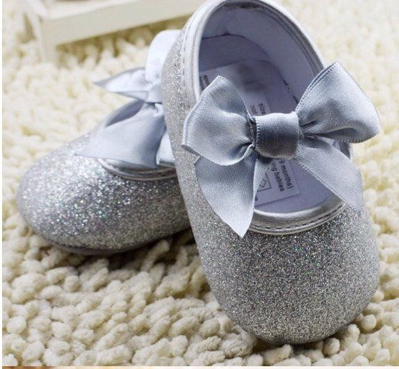 e01c734d679c Silver Baby Shoes - Baby Shoes - Glitter Baby Shoes - Infant Shoes - Silver Glitter  Baby Shoes - Silver Shoes - Mary Jane, Party baby shoes
